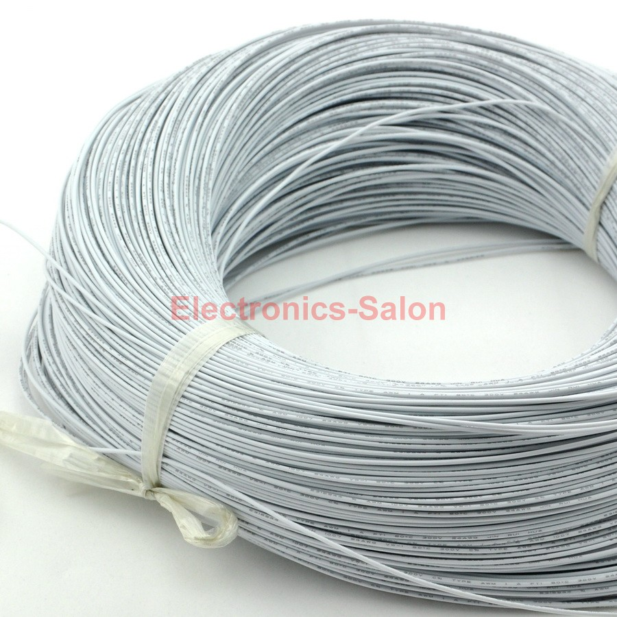 100M / 328FT White UL-1007 24AWG Hook-up Wire, Cable.<br><br>Aliexpress