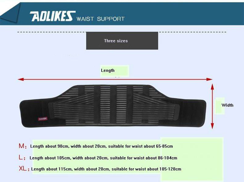 Aolikes Professional Elasticity Mesh Breathable with Health Care Removable Steel Waist Support Brace Back Guard Belt Bracer cheap