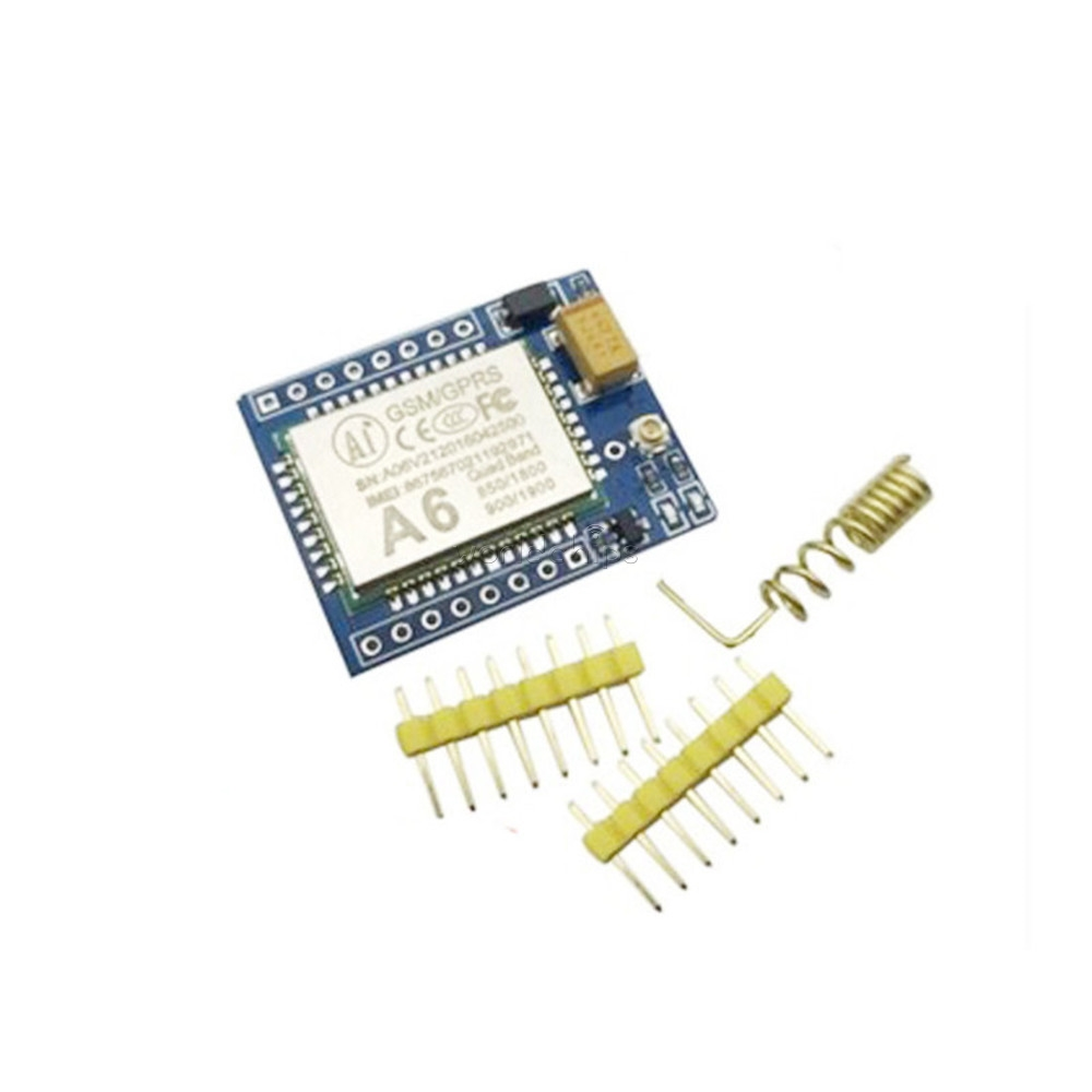 Mini A6 Quad-band GPRS GSM Kit Wireless Extension Module SMS Audio Board Antenna Tested Worldwide Replace SIM800L(China (Mainland))