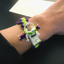 Toy story filme 4 Pulseira Buzz Lightyear de Super-heróis Capitão América Spiderman Batman Pulseira Artesanal Tijolo Toy Kids(China)