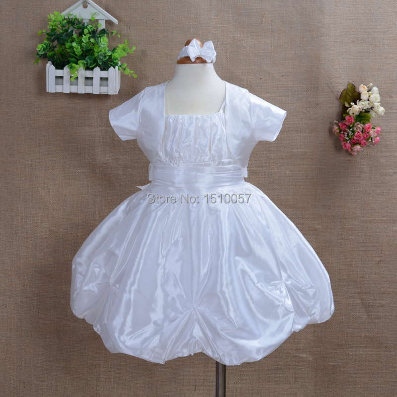 A15 Princess Baby Christening Party Dress with Matching Headband,Bloomers & Bolero in White,Pink,Burgundy,Lilac from 0-18 Months(China (Mainland))