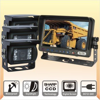 7 Inch Reversing Camera System, Rear View Back Up Camera System, Tractor Camera TFT LCD +3 Camera(China (Mainland))