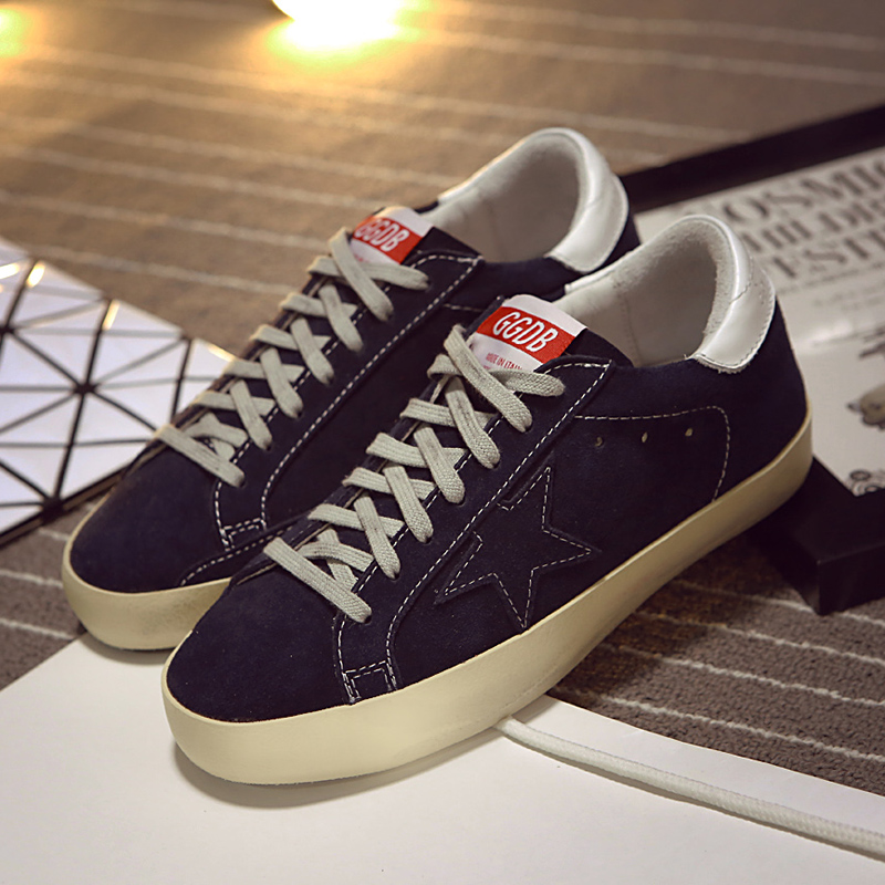 Golden goose gg for db star paragraph of single shoes 15fw nubuck cowhide lovers design retro finishing casual shoes<br>