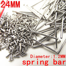 1000PCS / lot watch repair tools & kits 24MM spring bar watch repair parts Stainless steel diameter 1.2mm -SP012(China (Mainland))
