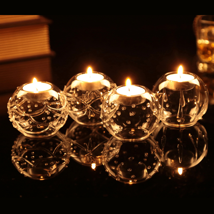 2015 Vintage Beautiful Glass Ball Candle Holders Table