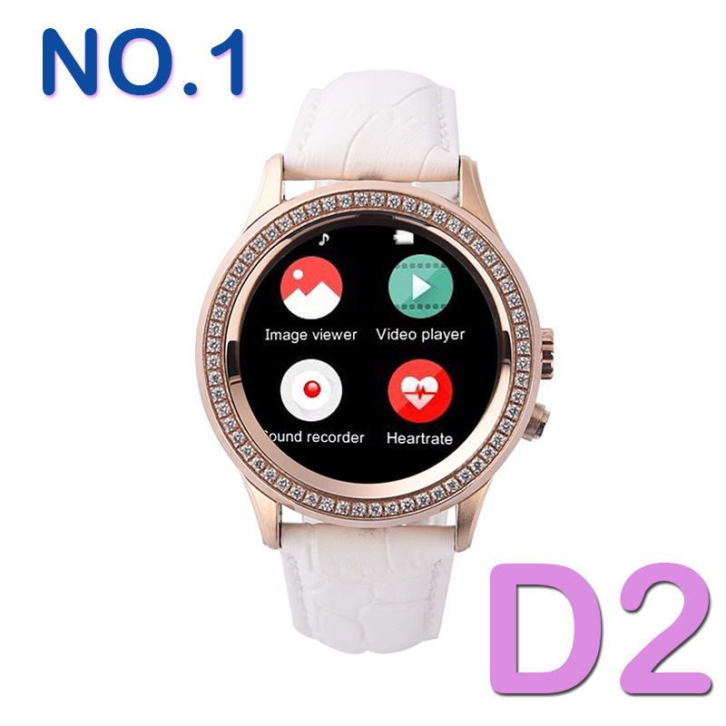2016 no 1 d2 bluetooth women diamond smart watch for. Black Bedroom Furniture Sets. Home Design Ideas