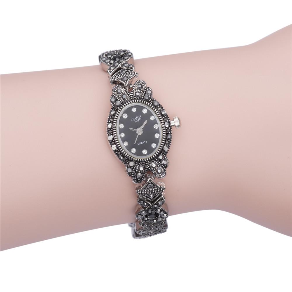 2015 new fashion 18k gold plainted luxury bracelet women female clock casual brand rhinestone wrist dress ladies watch gift 15<br><br>Aliexpress