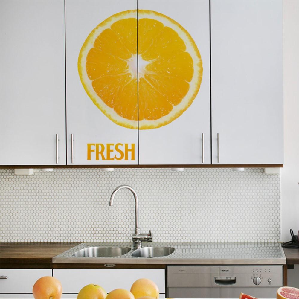 Creative FRESH orange lemon kitchen living room door decor