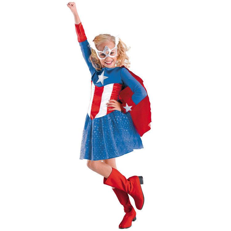 Achetez en gros girl captain america costume en ligne des grossistes girl captain america - Captain america fille ...