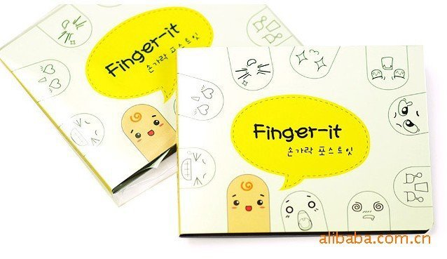 Free shipping Cute Funny Fingers expression Sticky Note Memo pads Diary Mood Sticky note bookmarker 200sheets/set 100sets/lot