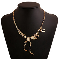 Europe's most innovative and creative fashion personality retro small dinosaur skeleton necklace, wholesale free shipping