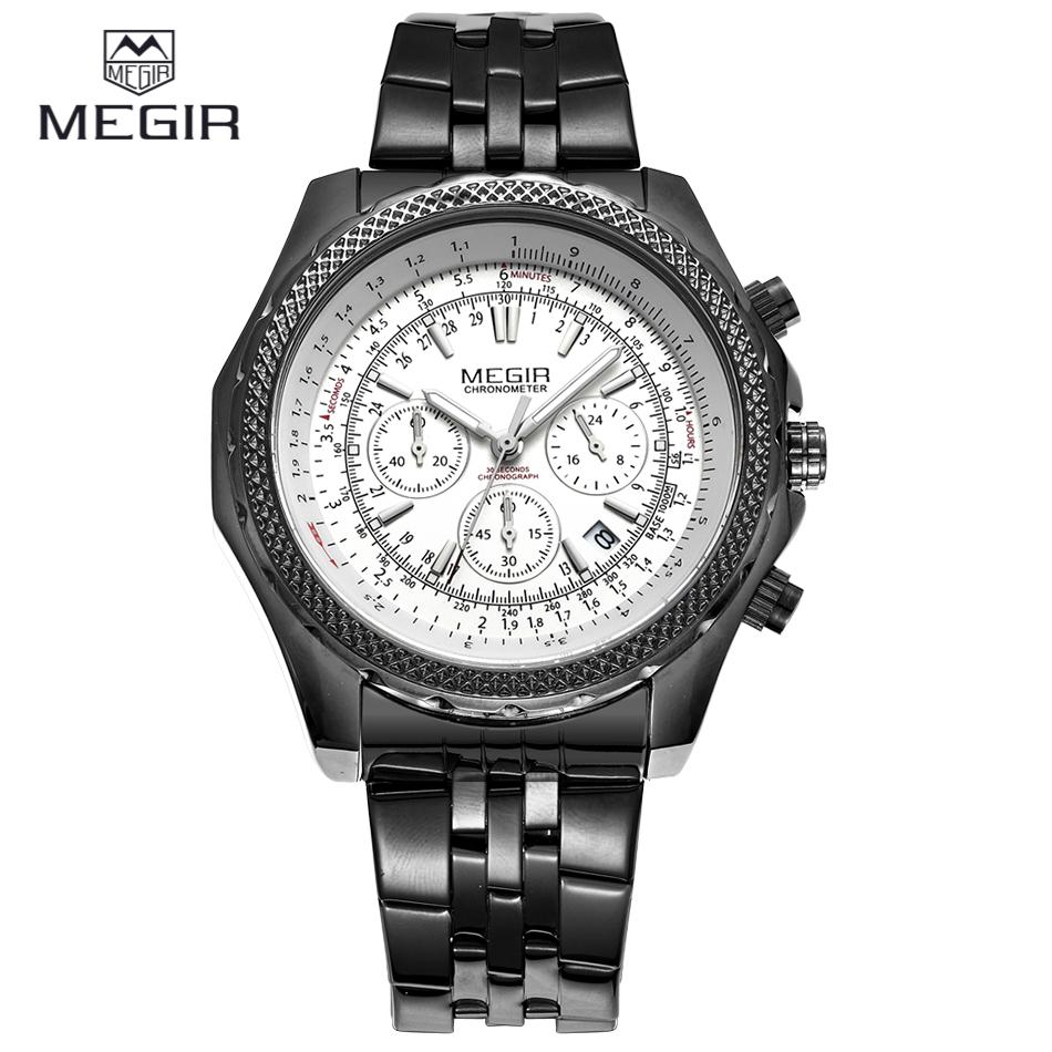 MEGIR Chronograph Men Sports Watches Stainless Steel Case Multifunction Men Outdoor Military Watch Wristwatches Montre Homme<br><br>Aliexpress