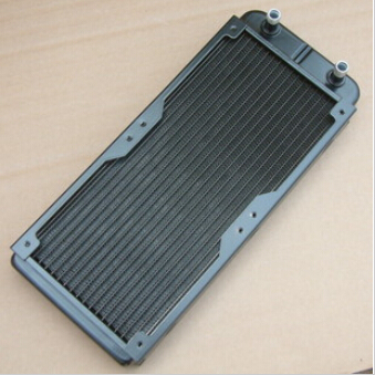 Computer water cooling radiator OD10mm 240p water discharge Auminum can set 2 fans exhaust heat exchanger cooled exhaust(China (Mainland))