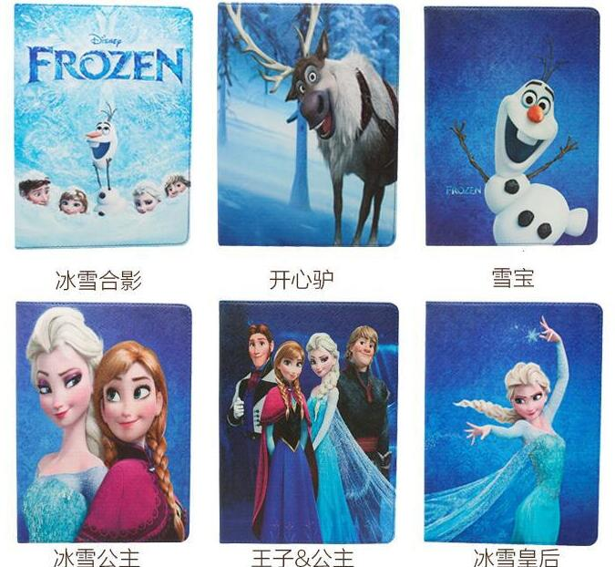 Tablet Case Cover For Apple ipad pro 9.7 case2 3 4 frozen tablet case Princess capas ipad 2 princesa PU Tablet Protector(China (Mainland))