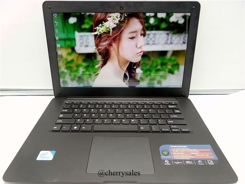 Super Thin Laptop Computer 14 inch with In-tel celeron J1900 Quad core Processor 4G 750GB HDD Notebook Windows 7/8.1(China (Mainland))
