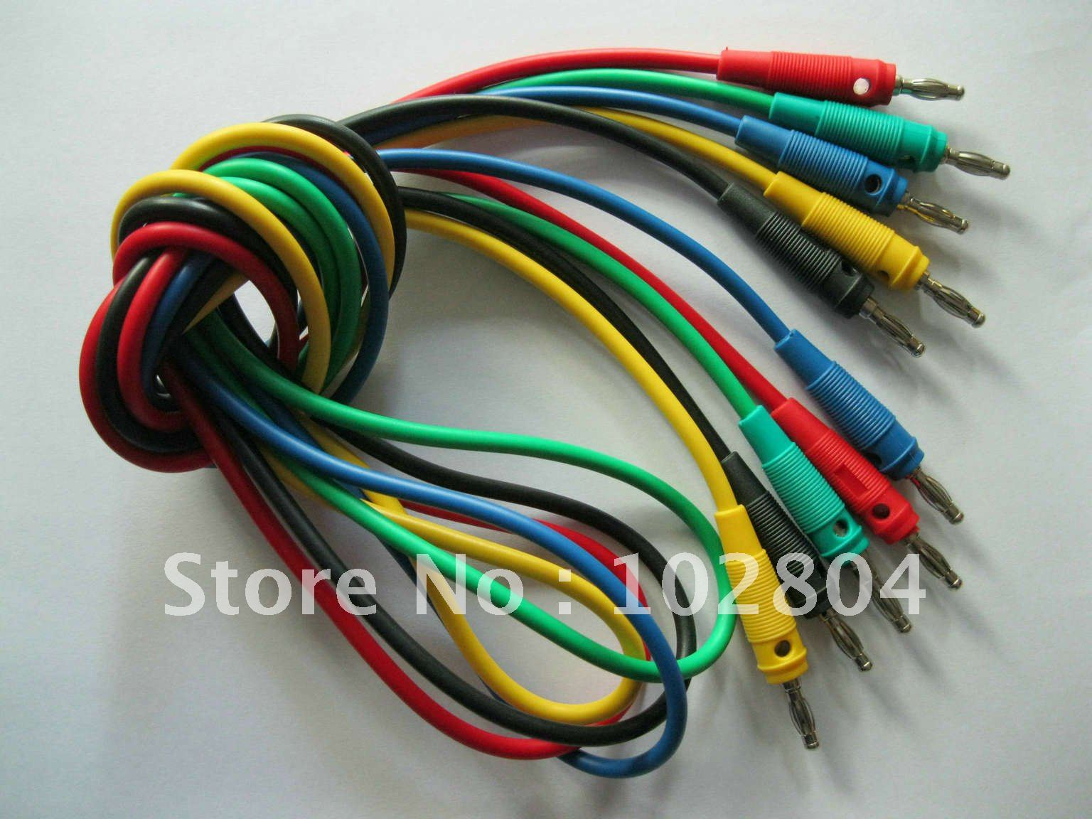 5 Set(25pcs) 5 Color Red & Black & Green & Yellow & Blue Banana plug of banana plug B type silicon lead test cable high voltage(China (Mainland))