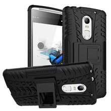 Dazzle Cover With Kickstand / Shockproof Function Hybrid Armor Hard Case for Lenovo Vibe X3 Smartphone Protective Skin