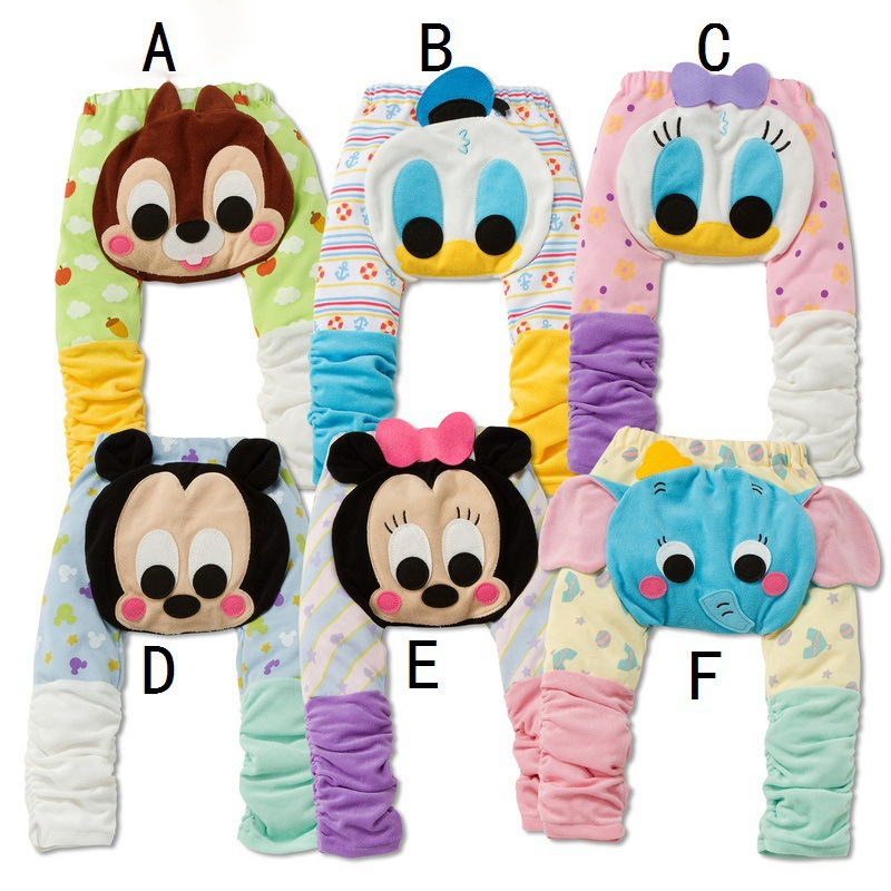 baby boy clothes baby pants 2015 new autumn cartroon mickey dots splice baby girl pants free shopping(China (Mainland))