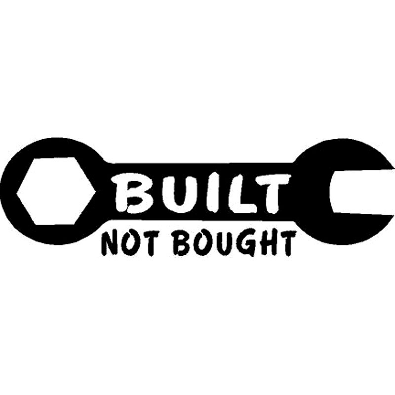 16.5CM*5.1CM Built Not Bought Wrench Truck Sticker Fun Decor Stickers Decal Car Sticker Car Accessories Black/Silver C8-0644(China (Mainland))