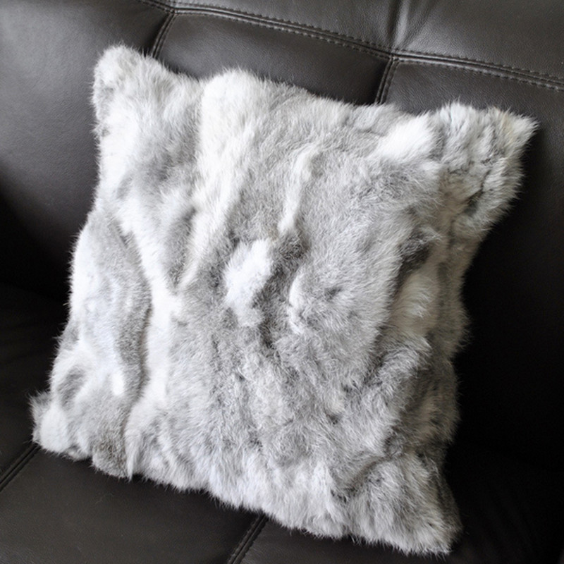 achetez en gros rabbit fur throw pillow en ligne des. Black Bedroom Furniture Sets. Home Design Ideas