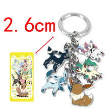 Pokemon Pikachu Eevee Keychains Cartoon anime figures toys Key Chains Pendants boys Girls kawaii keyring toys Christmas Gifts