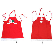 Buy Santa Claus Christmas Apron Red Bib Waitress Fancy Dress Costume Xmas Gift Christmas Decorations Home Kitchen Adult Apron for $8.79 in AliExpress store