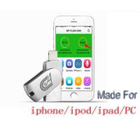 New Arrivel Metal thumbdrive OTG phone USB flash drive 16GB 32GB 64GB memory stick for iphone 5s 6 ipad PENDRIVE Default Custom