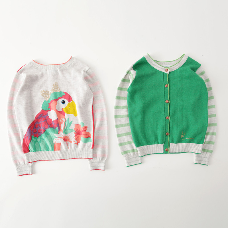 Fashion children's clothing 2015 autumn girls child cotton cartoon cardigan kids sweaters baby cute coats top(China (Mainland))