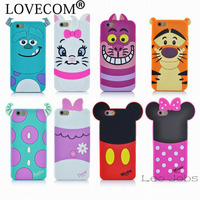 3D Cartoon Sulley Marie Alice Cat Tigger Daisy Mickey Minnie back Cover Soft Case For iphone 6 6S 4.7