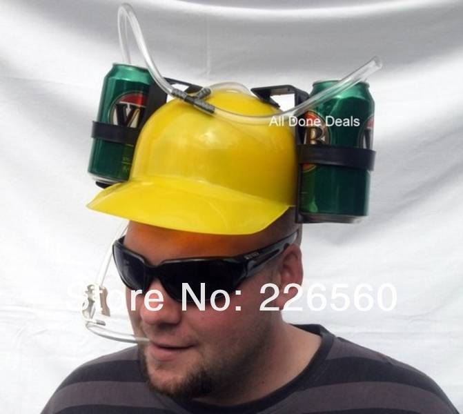 Free shipping 3Pieces Beer Can Holder Helmet Drinking Helmet Drinking Hat(China (Mainland))