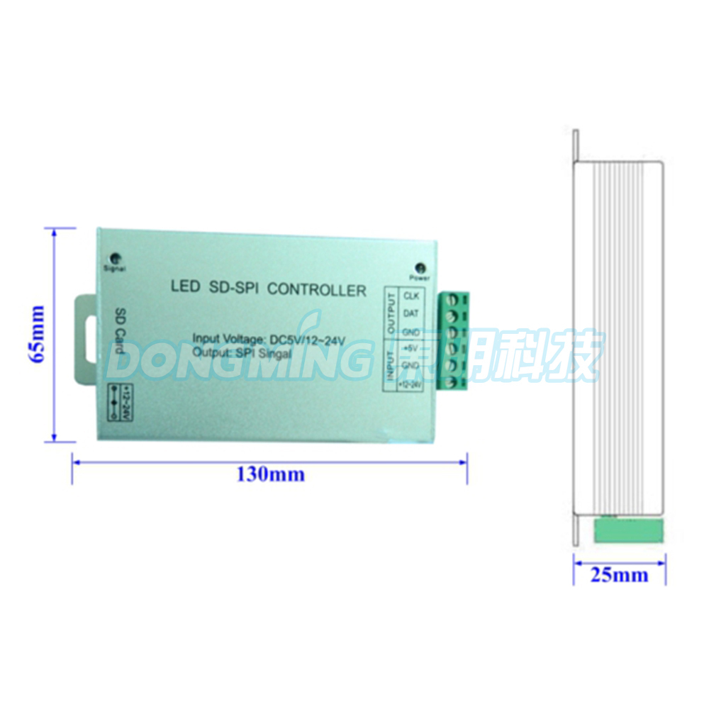 SD Card Controller DC5-24V LED RGB Pixel Controller For Pixel Strip Warranty 1 Year WS2812/LPD8806 DMX Controller Free shipping(China (Mainland))