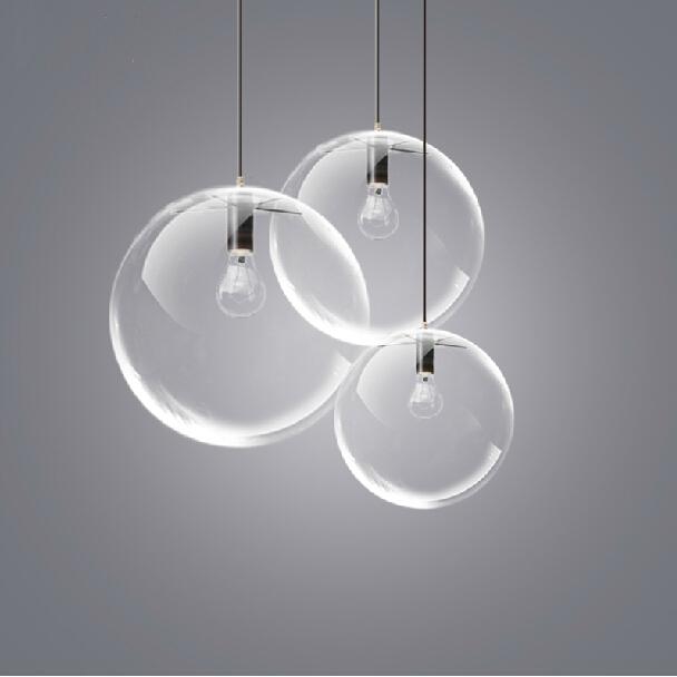 Glass Ball Pendant Light Fixture