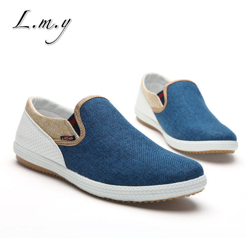 Hot sale!Breathable Man Hemp Summer Flat Shoes Eu 39-44 New Arrival Fashion Outdoor Style Light & Soft Men Casual Shoes