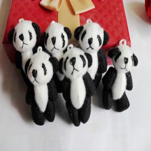 Wholesale 30pcs/Lot 4.5cm Joint Panda Small Toy Doll Bouquet Packaging DIY Material<br><br>Aliexpress