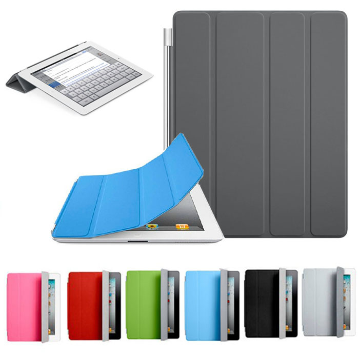 Гаджет  2014 New Arrival Hot Sale Ultra Thin Magnetic Leather Smart Cover Case For iPad 2 3 4 Free Shipping & Wholesale None Компьютер & сеть