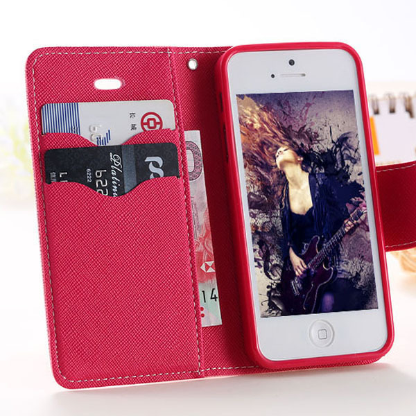 Case for apple iphone 5 5S / 5C Luxury Logo Leather Case Wallet Stand Card Slot Holder Phone Flip Cover for iphone5 for iphone5c(China (Mainland))