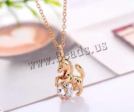 Free shipping!!!Zinc Alloy Jewelry Necklace,Jewelry Accessories, with brass chain & Cubic Zirconia, with 5cm extender chain(China (Mainland))