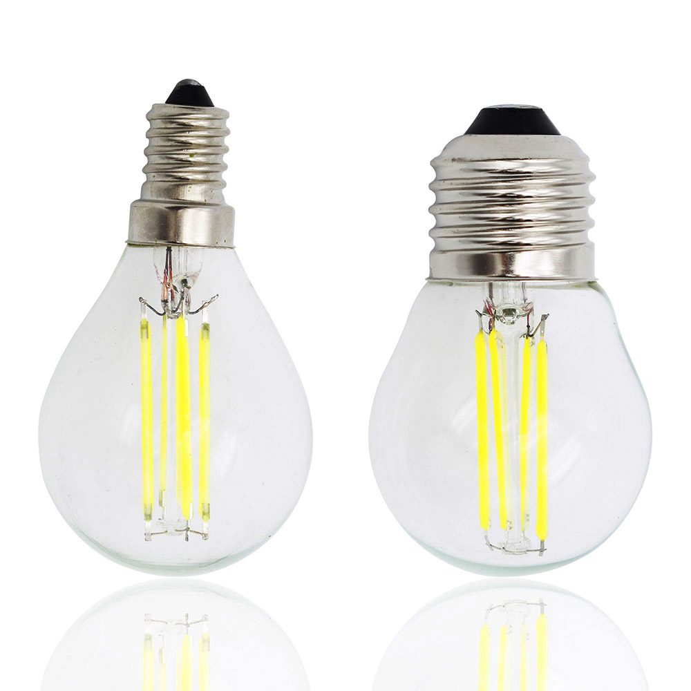 G45 LED Filament E27 Dimmable Light Glass Edison E14 Bulb Replace Compact Fluorescent Lamp 4W 8W 12W 16W Chandelier 220V(China (Mainland))