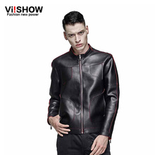 2016 new arrive brand thin motorcycle leather jackets men ,men's leather jacket, jaqueta de couro masculina,mens leather jackets(China (Mainland))