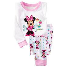 Hot sale Children boys girls kids Clothing Sets Cartoon suits 2 pcs Sleepwear Long Sleeve Cartoon Pajamas(China (Mainland))