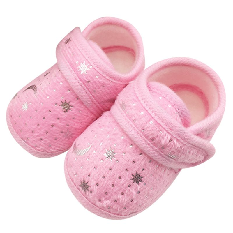 6475 Cute Infants Bay Boys Girls Shoes Cotton Shoes Star Print First Walkers<br><br>Aliexpress