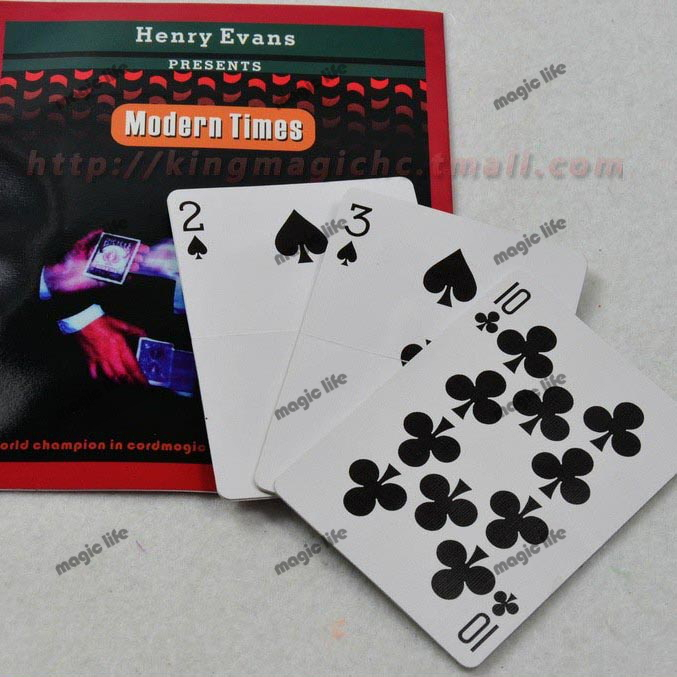 Modern Times by Henry Evans Speed Change Cards Three Cards original deck magic props magic trick 5pcs each lot(China (Mainland))