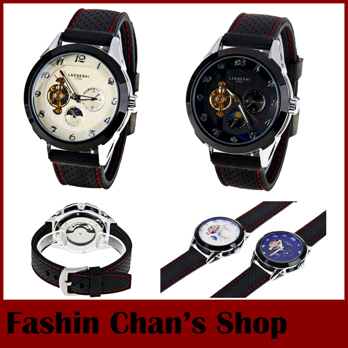 2015 New Laogeshi 376A Brand Men Hand Wind Mechanical Silicone Strap Self-wind Male Clock Watch Relogio Masculino Sport Watch<br><br>Aliexpress