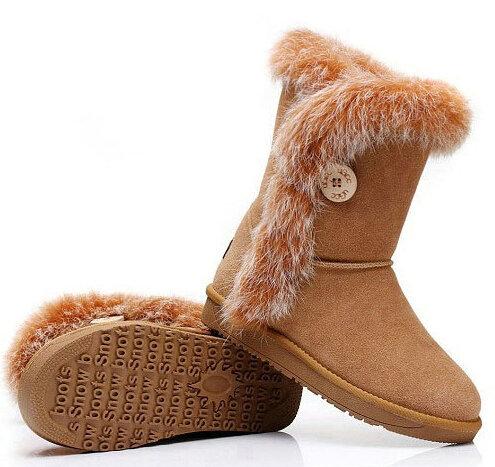 Фотография 2016 new winter fashion women boots warm plush snow boots platforms mid-calf bow winter boots thicken Genuine Leather