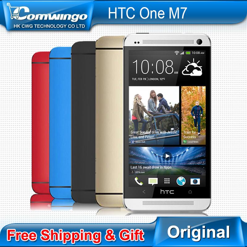 Hot sale Original HTC One M7 EU Dual SIM GPS WIFI 4.7''Touch Screen Quad-core1.7GHz 4MP camera 32GB Unlocked CellPhone(China (Mainland))