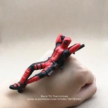 Disney marvel x-men deadpool 2 figura de ação sentado postura modelo anime mini boneca decoração pvc coleção estatueta brinquedos modelo(China)