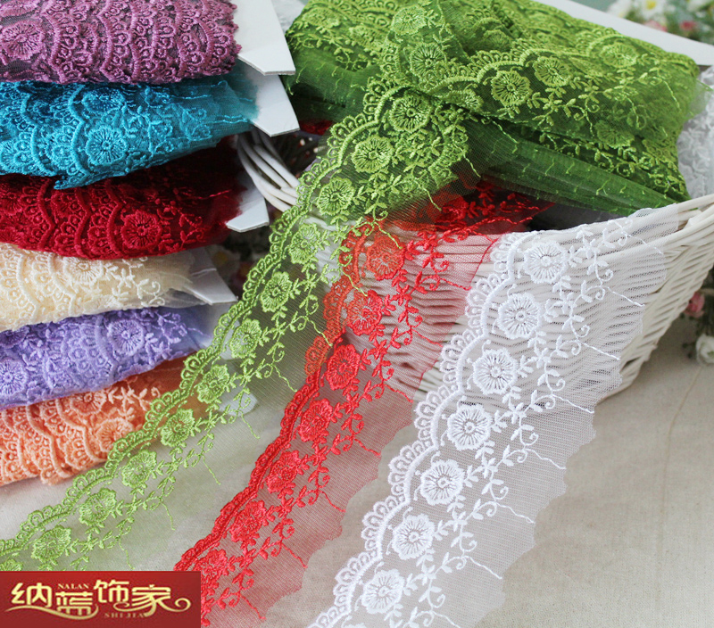 Free shipping Handmade diy clothes accessories laciness sofa curtain accessories table cloth lace decoration(China (Mainland))