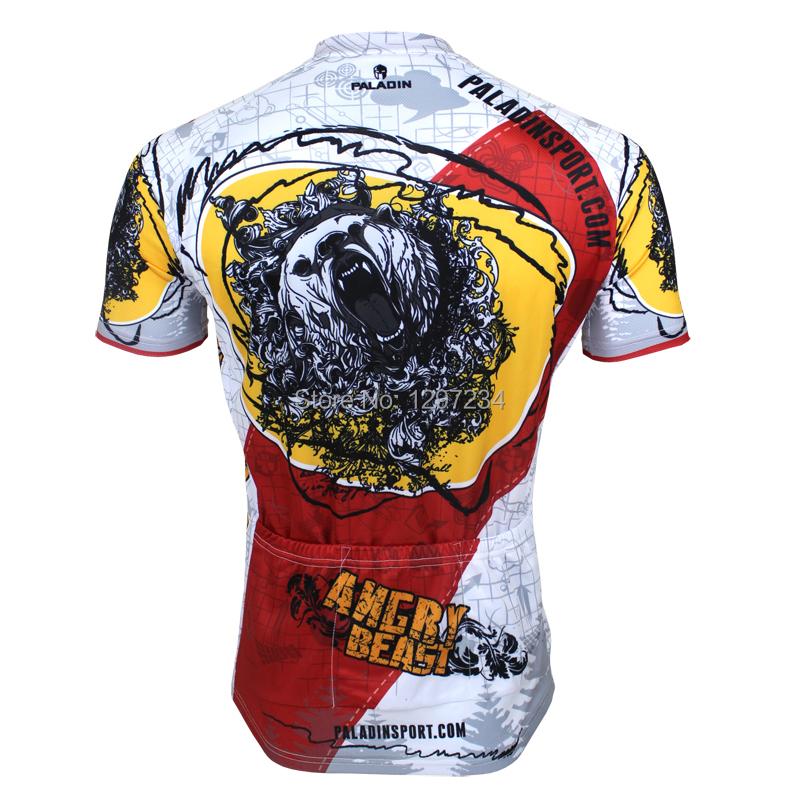 2014 new comic Bears men's angry Bears novelty cycling jersey unique angry Bears cycling clothing cheap bike wear(China (Mainland))