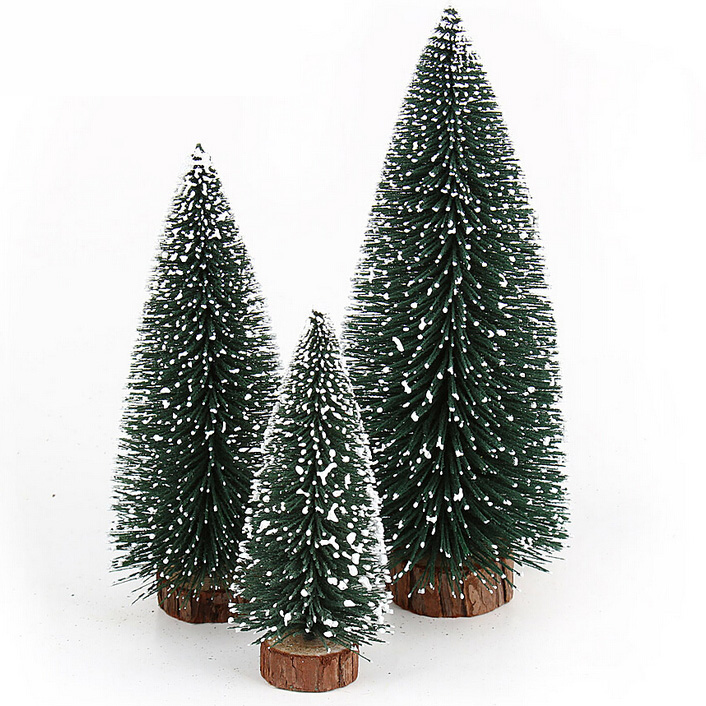 1pc/lot christmas ornament small artificial pvc snow christmas tree for christmas decoration merry christmas(China (Mainland))