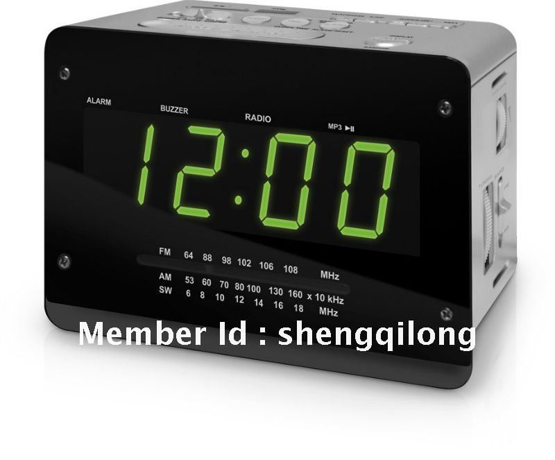 buy portable alarm clock radio with usb sd mmc card speaker. Black Bedroom Furniture Sets. Home Design Ideas